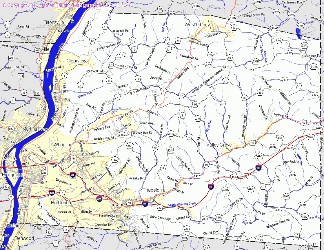 Map Of Ohio And West Virginia Afputracom - West virginia map showing counties