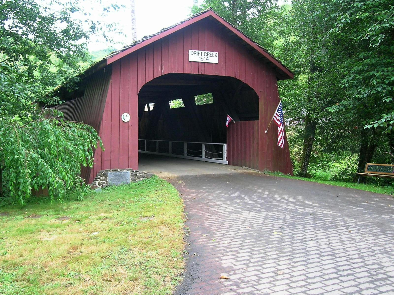 Bridgehunter Com Drift Creek Covered Bridge 37 21 14
