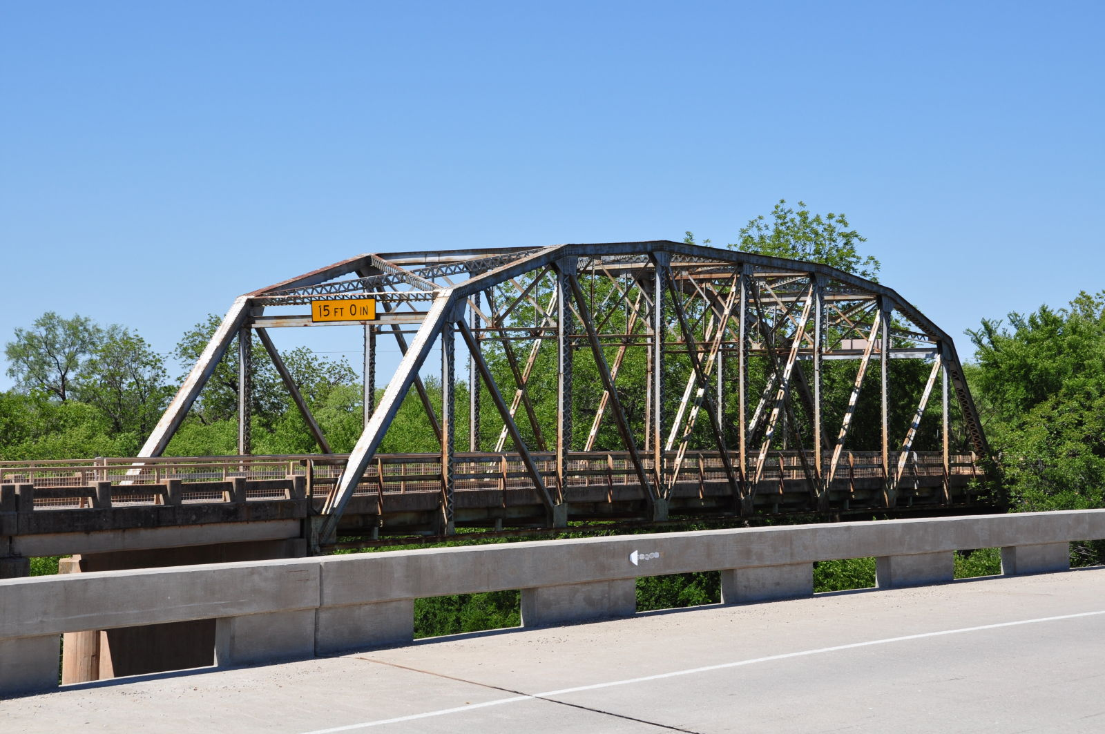 State hwy 23 bridge at the clear fork for Texas bridge series