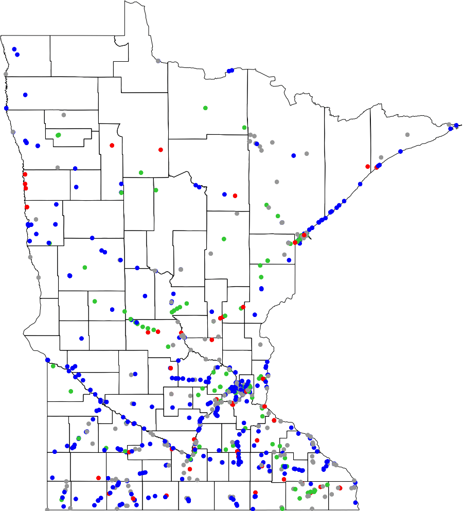 Minnesota Map Png.Bridgehunter Com Map Of Minnesota Bridges