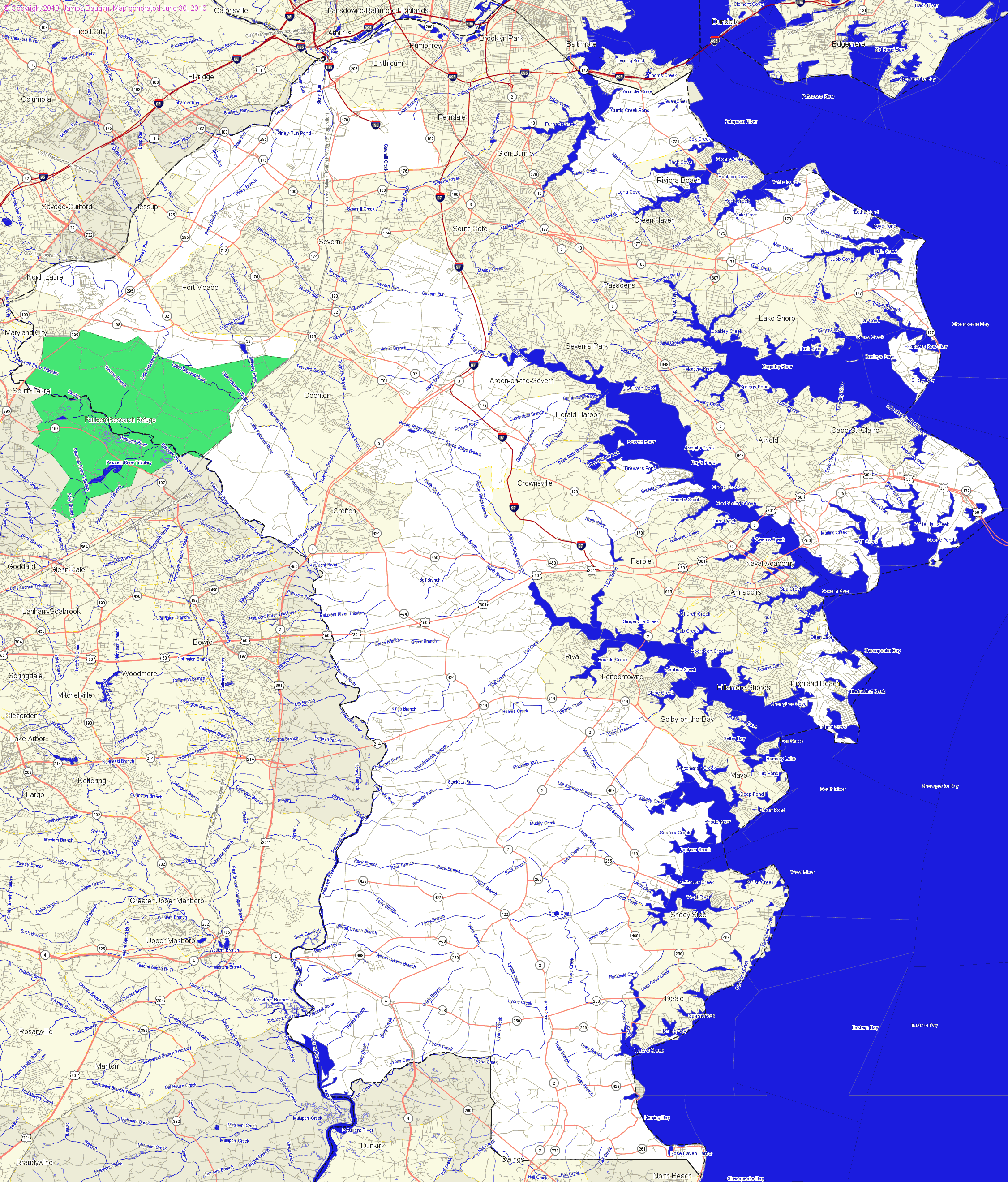 LandmarkHunter.com | Anne Arundel County, Maryland on annapolis map, prince william county map, prince george's county map, frederick county map, howard county md map, arundel mills map, cass county map, harford county map, baltimore map, maryland county map, prince george co. md map, burke county map, calvert county map, glen burnie map, queen anne map, montgomery county map, carroll county map, arundel md map, ellicott city map, johnson county map,