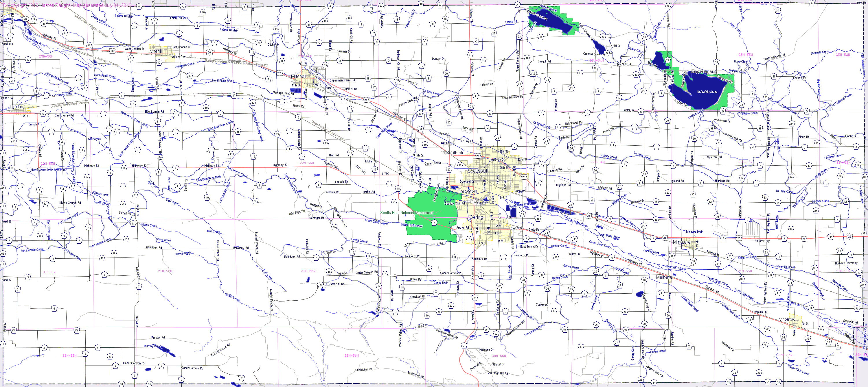 city map of north texas