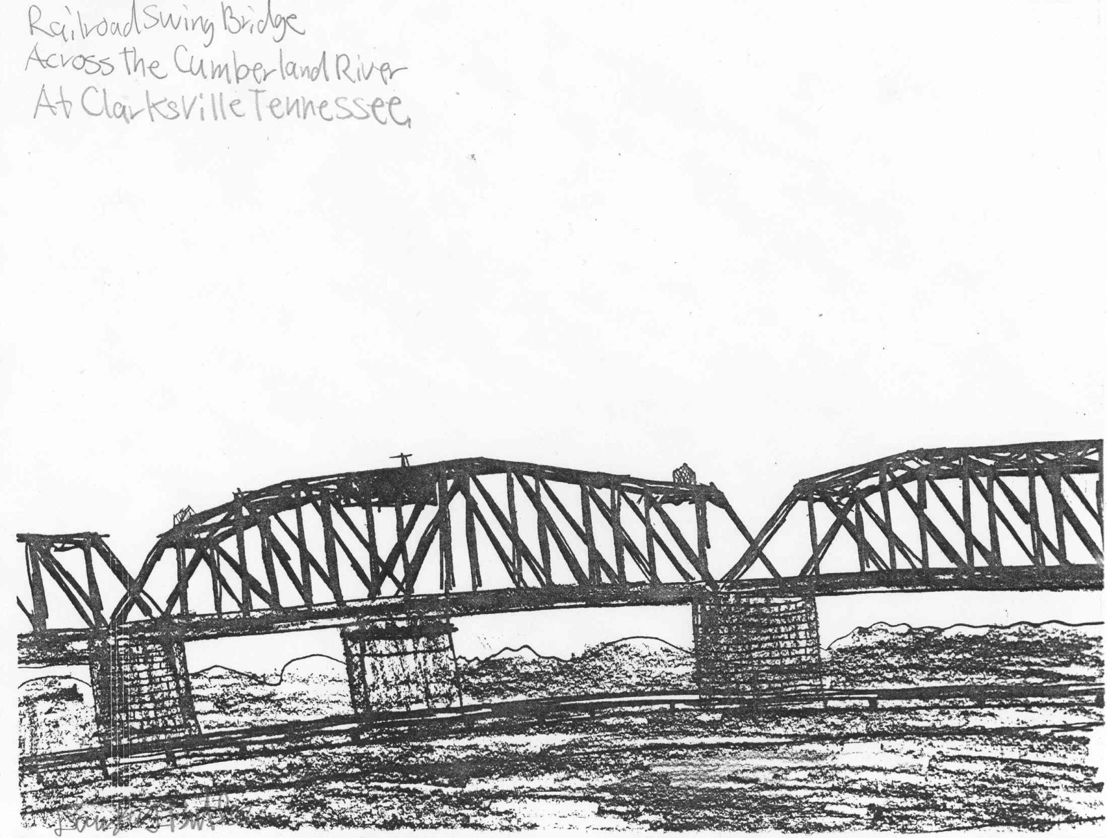 Bridgehunter rjcm cumberland river swing bridge bh photo 263937 sciox Image collections
